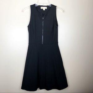 Michael Kors size 2 black skater zipper dress